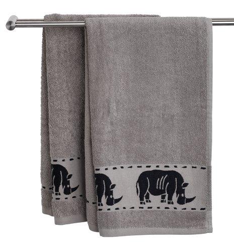 Хавлиена кърпа MALUNG 50x100 см сива