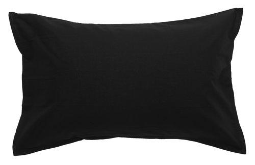 Pillowcase 50x70/75 black KRONBORG
