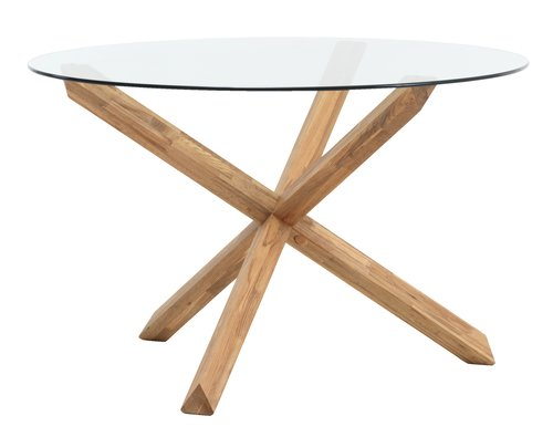 Dining table AGERBY D119 glass/oak