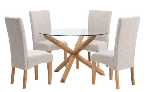 Dining chair BORUP natural/ash