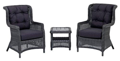 Lounge chair FALKENBERG grey