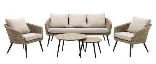 Комплект меблів VEBBESTRUP 5м натура