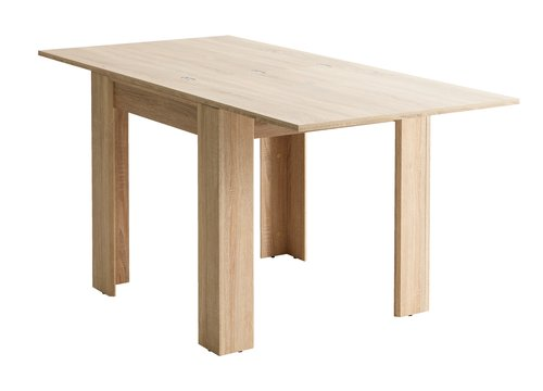 Dining table HALLUND 80x80/160 oak