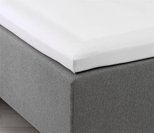 Hoeslaken topper 180x200x6-10 wit