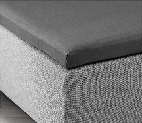 Hoeslaken topper 140x200x6-10 grijs