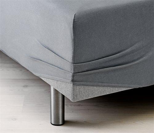 Ζέρσεϊ σεντόνι 140/150x200x40cm γκρι