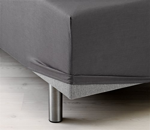 Plahta s gum. 160x200x35 cm siva