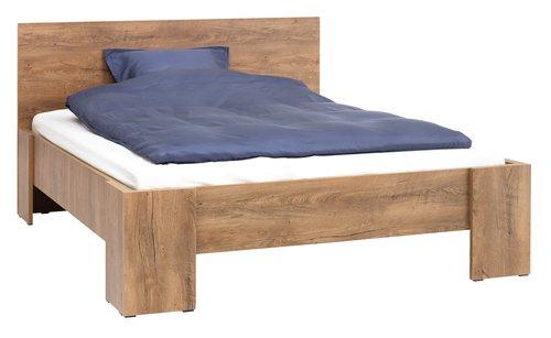 Estructura cama VEDDE 180x200 roble salv