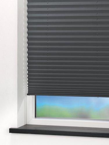 Plisségardin SALTHOLM 120x130 grå