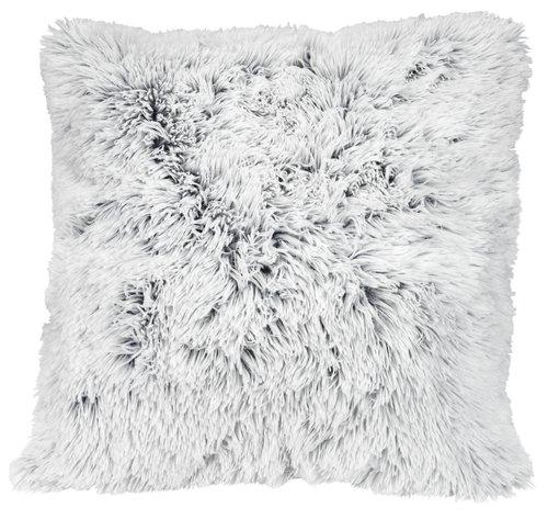 Cushion LOTUS 50x50 fake fur white/grey