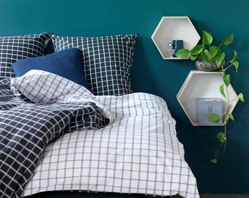 Set posteljine KARIN 200×220 bela/crna