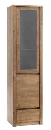 Display cabinet VEDDE 1 door 1 drw w.oak