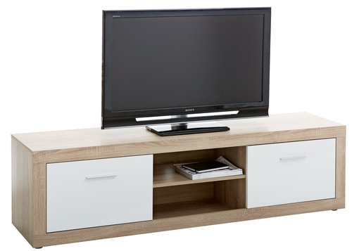 TV bench FAVRBO oak/white