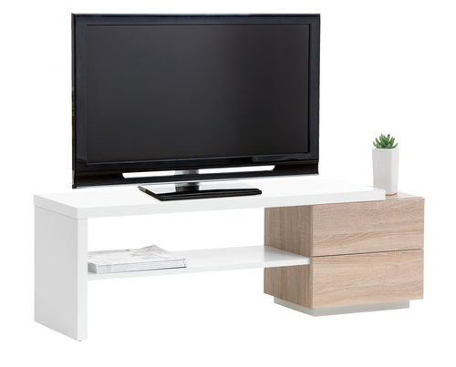 TV-meubel ABTERP wit/eiken