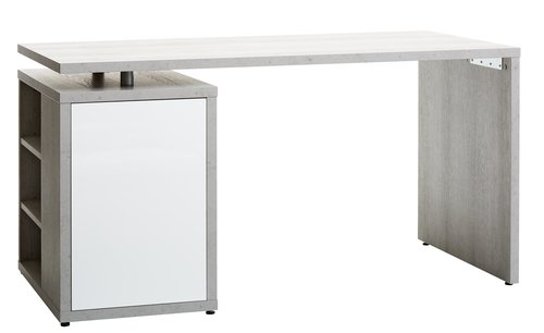 Birou ULLITS beton/alb lucios