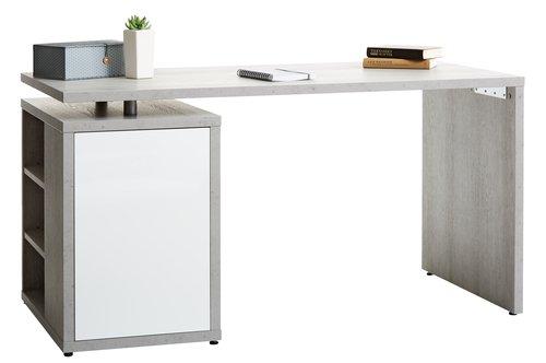 Skrivebord ULLITS 69x140 beton/hv. højg.