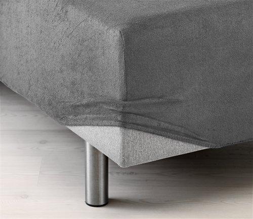 Stretchfrottélakan 80x200x40cm grå