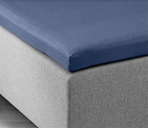 Hoeslaken topper 140x200x6-10 blauw