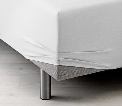 Sateen Fitted sheet SKING white KRONBORG