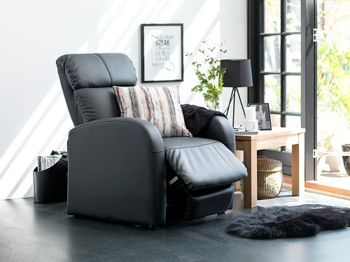 Fotel z masażerem HOVBORG czarny