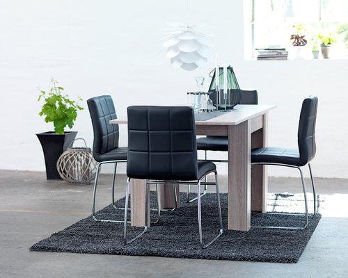 Dining chair HAMMEL black/chrome