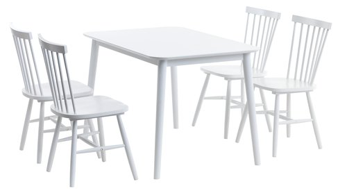 Dining chair LANGDAL white