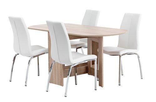 Miza OBLING D163 + 4 stoli HAVNDAL