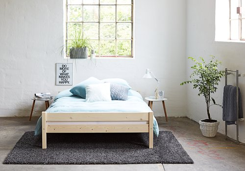 Ліжко SALLINGE 140x200см натура