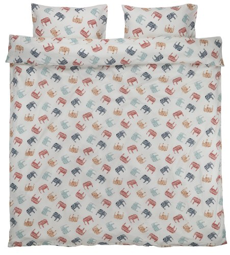 Set posteljine ESTELLE flanel 200x220 cr