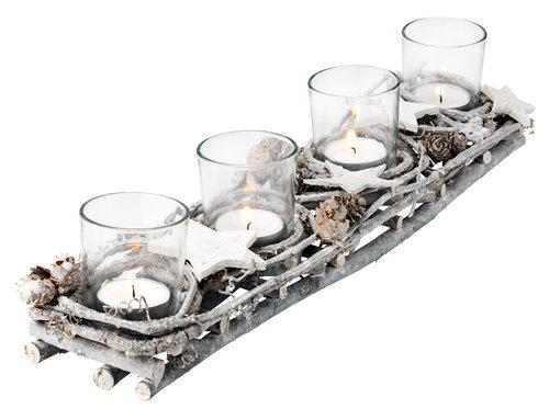 Suport lumânare EDDA 40cm cu decoratiuni