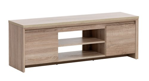 TV bench HALLUND 2 door oak