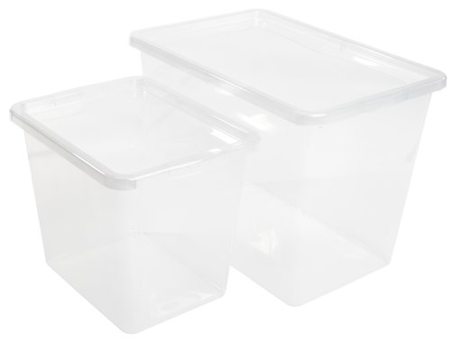 Contenit. BASIC BOX 80L coperchio trasp.