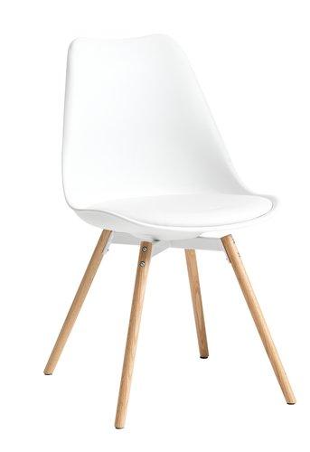 Ruokapöydän tuoli KASTRUP valk./tammi