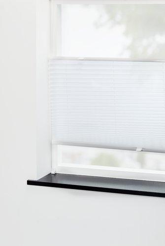 Store plissé HVEN 90x220 blanc haut/bas