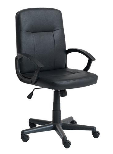 Office chair NIMTOFTE faux leather black