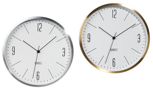 Wall clock HALVOR D30cm asstd.