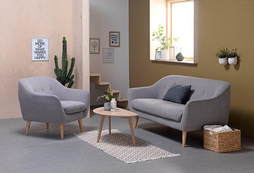 Sofa EGEDAL 2.5 seater light grey