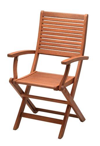 Skladacia stolička VANTORE tvrdé drevo