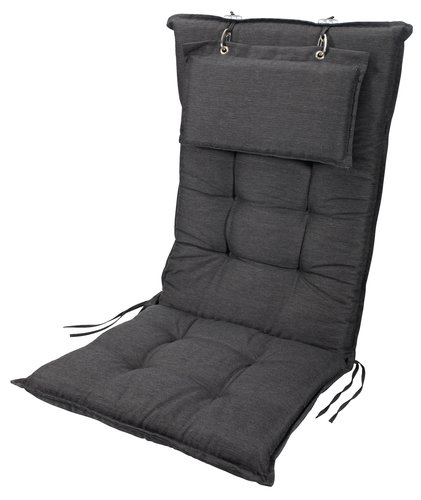 Hagepute BENNEBO reg.bar stol mørk grå