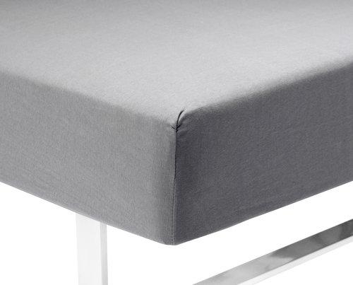 Jersey sheet DBL/KNG grey KRONBORG