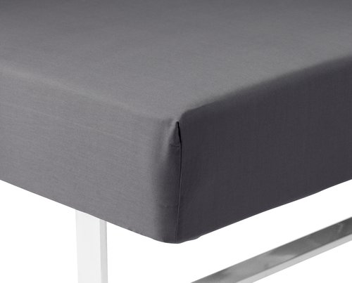 Sateen Fitted sheet KNG grey KRONBORG