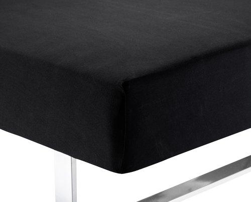 Hoeslaken jersey 160x200x40 zwart