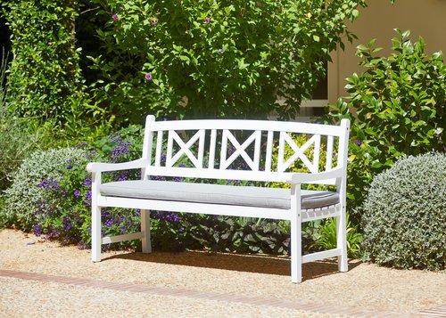 Trädgårdsdyna bänk 3-sits HVIDE SANDE