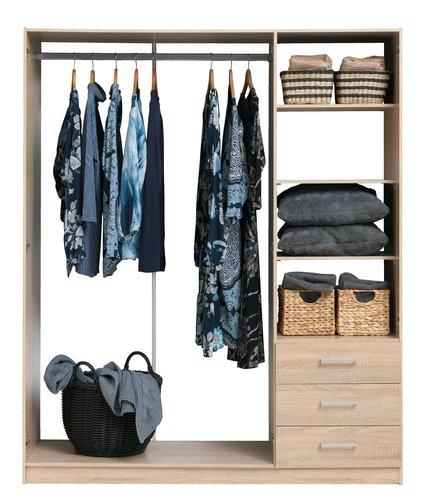 Kleiderschrank HAGENDRUP 144x176 eiche