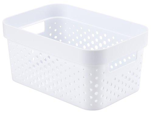 Korb INFINITY 4,5L Plastik weiß