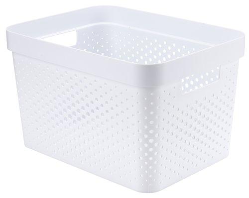 Korb INFINITY 17L Plastik weiß