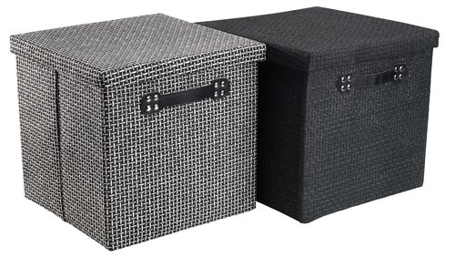 Storage box GODTFRED 32x32x30 cm w/lid