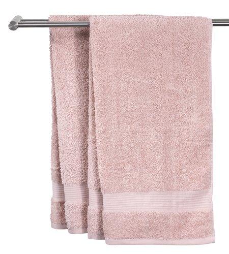 Badehåndklæde KARLSTAD lyserød KRONBORG