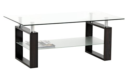 Soffbord NYBORG metall/glas