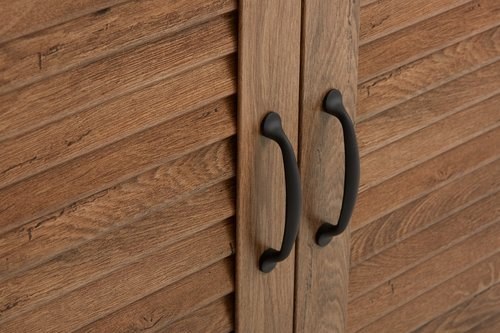 Bookcase MANDERUP 2 door 3+1 sh wild oak